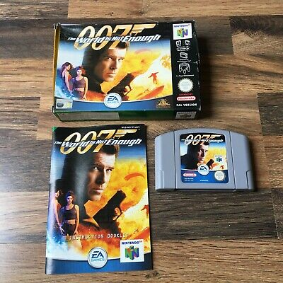 Nintendo 64 The World Is Not Enough - 007 - Complete - Collectors!- PAL - N64