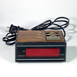 Retro Vintage COSMO Time LED digital Alarm Clock E529B Rare Miniature WORKING