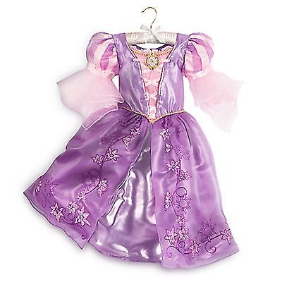 Disney Store Rapunzel Tangled Princess Dress Halloween Costume 9/10 RETIRED NEW