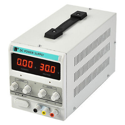 New 30v 10a Dc Power Supply Adjustable Variable Dual Digital Lab Test