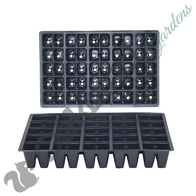 5 X 50 Cell Seed Tray Inserts Full Size Plug Trays Bedding Plant Pack