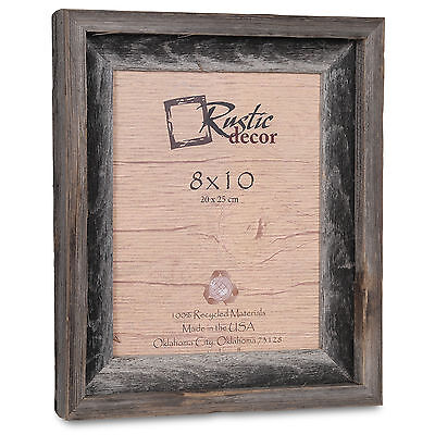 """8x10-2"""" Wide Signature Reclaimed Rustic Barn Wood Picture Frame"""