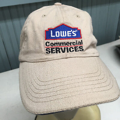 Lowes Home Improvement Commercial Services Adjustable Baseball Cap Hat