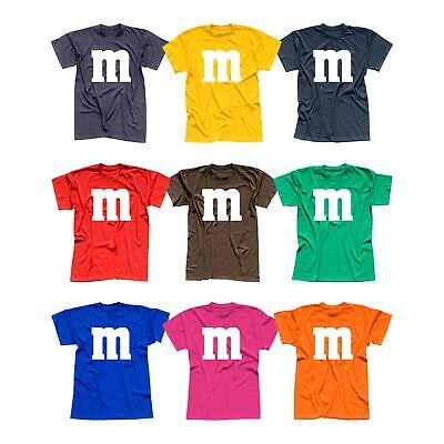 T-Shirt M&M Schoko-Linse Gruppenkostüm Karneval Fasching 12 Farben Herren XS-5XL (Gruppen Kostüme)