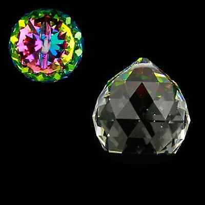 "Glas ""Kristall"" Kugel facettiert Feng Shui Suncatcher Fensterdeko Chakra"
