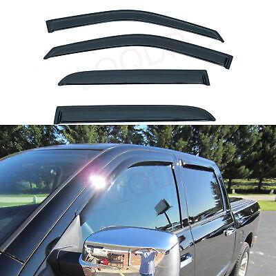 4pcs Outside Mount Smoke Vent Window Visors Fit 09/10-18 Dodge Ram Crew/Mega Cab