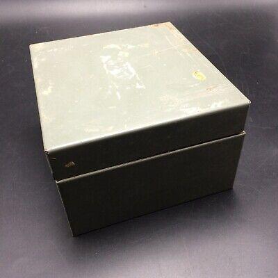 Vintage Card File Box Tray W//Lid 1000 Card Capacity  3x5 Card Agate Gray Storage
