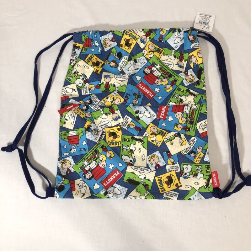 New Peanuts Gang Drawstring Backpack Bag