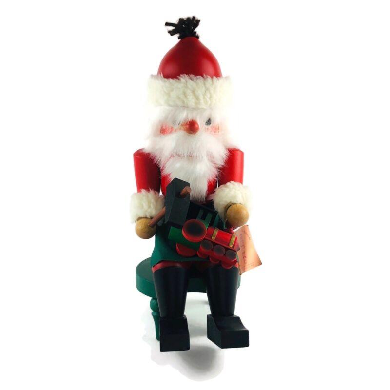 """Holzkunst Christian Ulbricht Santa Making Toy Nutcracker 12"""" Germany Handmade"""