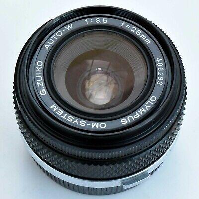 Olympus G. Zuiko Auto-W 28mm f/3.5 Wide angle Lens. Nr. Mint. Tested. see images segunda mano  Embacar hacia Spain