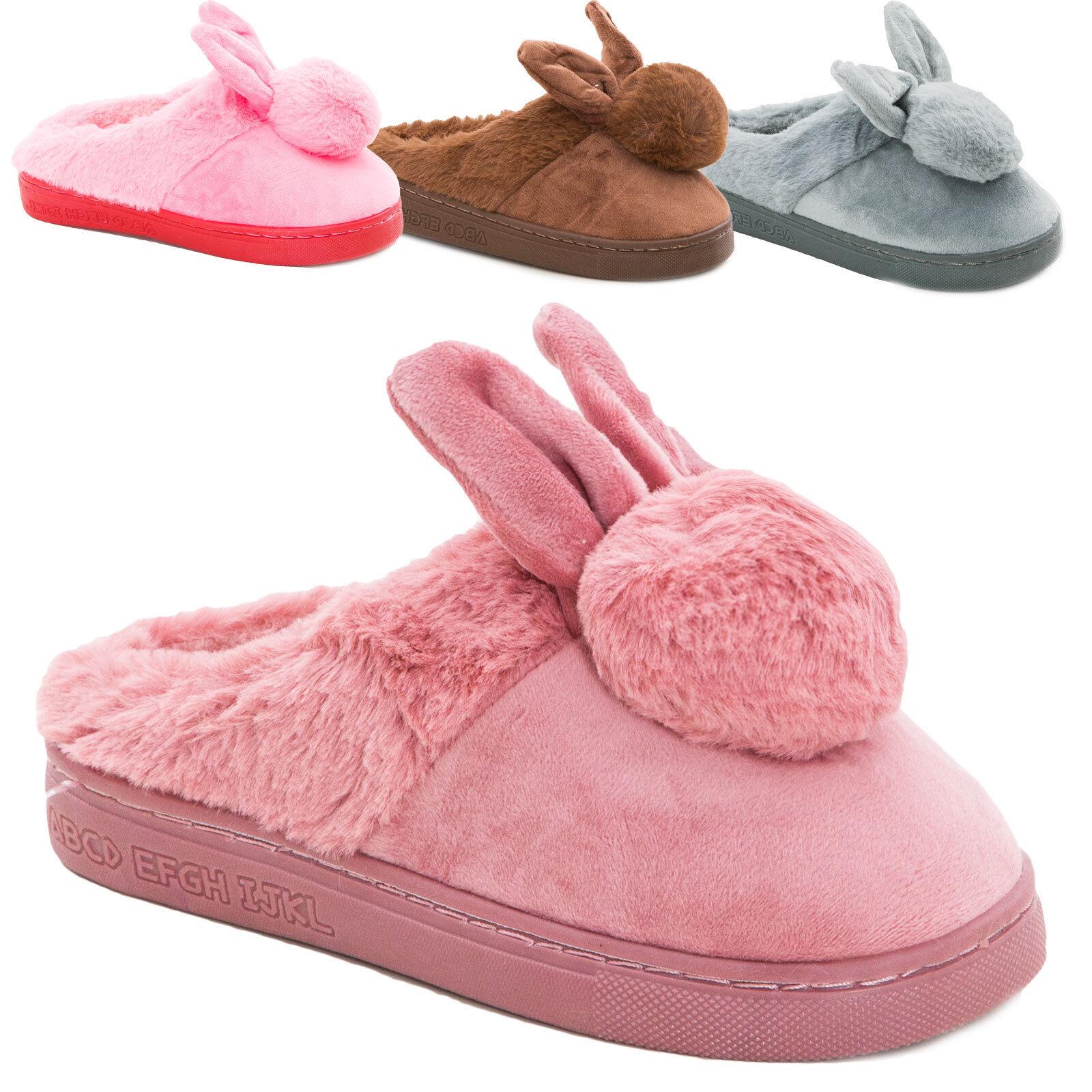 4a935c7c7 Zapatillas niña bebé niño conejo pantuflas botines eco piel XL-1760 ...