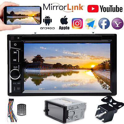 "2DIN 6.2"" HD Car Stereo CD DVD MP3 Player In Dash Bluetooth TV FM AM Radio Sub"