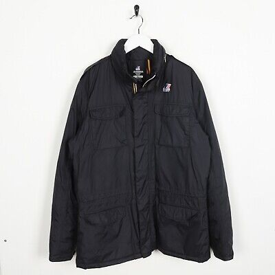 Vintage K-WAY Small Logo Padded Coat Jacket Black | Large L