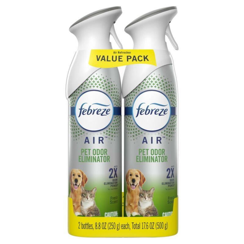Febreze Heavy Duty Pet Odor-Eliminating Air Freshener Spray, 2 Ct