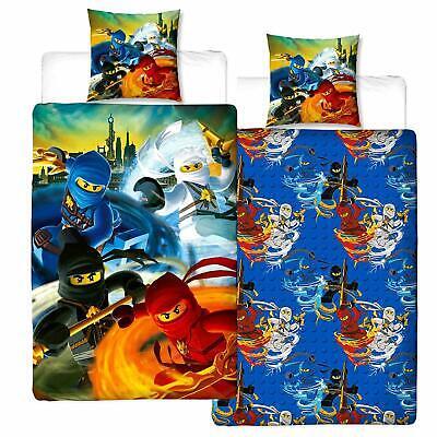Lego Ninjago Tornado 100% Cotton Flannel Duvet Cover Reversible Flannelette Bed