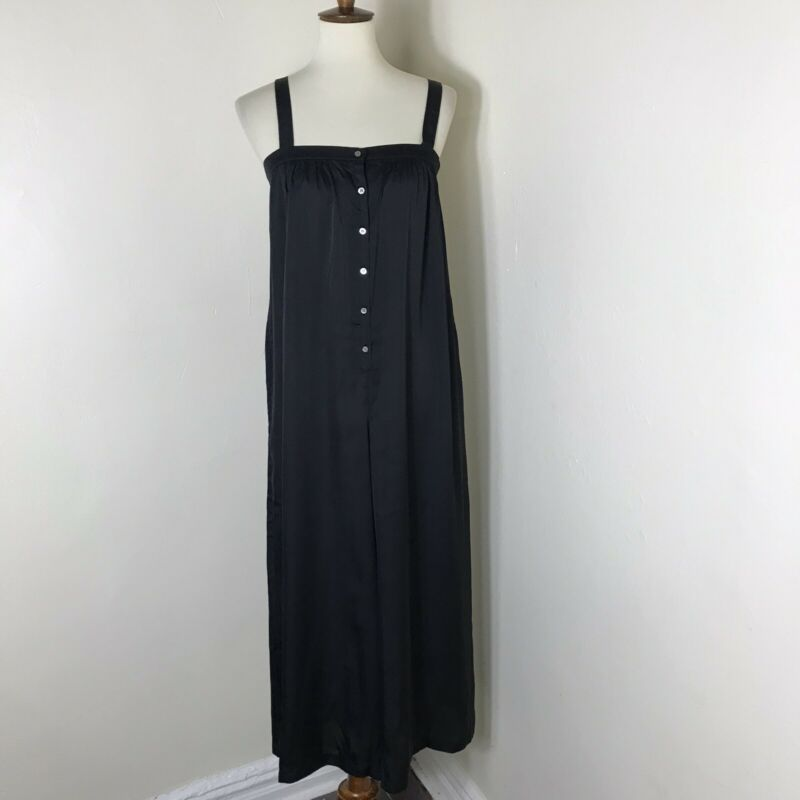 Hatch Maternity Wide Leg Jumpsuit Size 3 US 12 Black NWT $278