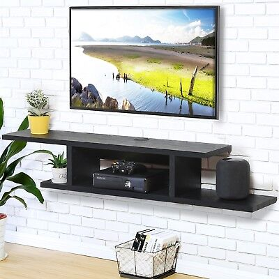 Wall Mount Media Console Entertainment Center TV Stand Float