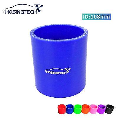"HOSINGTECH- 4.25"" 108mm Blue Silicone Intercooler Turbo Intake Pipe Coupler Hose"