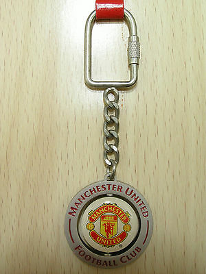 NEW Manchester United FC Official Metal Spinning Crest Keyring(keychain)(KEY797)