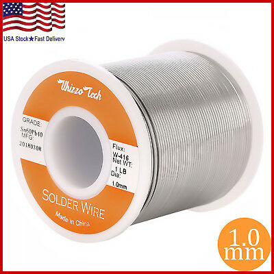 6040 Tin Lead Rosin Core Solder Wire Soldering Sn60 Pb40 Flux .0.0391.0mm 1lb