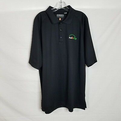 Ashworth Mens Black FedEx Cup Embroidered Short Sleeve Polo Shirt Size 2XL Q411 ()