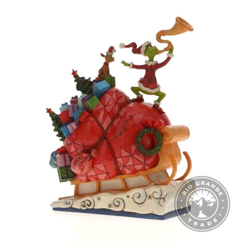 "OPEN BOX Enesco 6002069 Dr. Seuss Grinch by Jim Shore Sleigh Figurine - 9.13"""