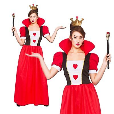 Womens Storybook Queen Of Hearts Alice Adult Fancy Dress Costume Book Day UK 6-2