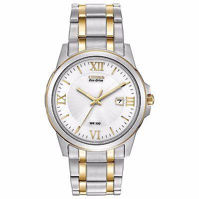Citizen Eco-Drive Men's BM7264-51A Two-Tone Roman Numerals Bracelet 40mm Watch