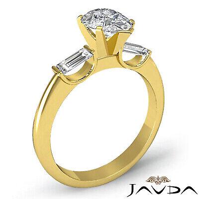 Brilliant Pear Cut Diamond 3 Stone Engagement Ring GIA I SI1 Platinum 950 1.3 ct 4