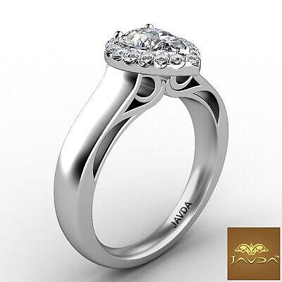 Halo Filigree Shank Pear Shape Diamond Engagement Ring GIA E Clarity VS1 0.92Ct  2