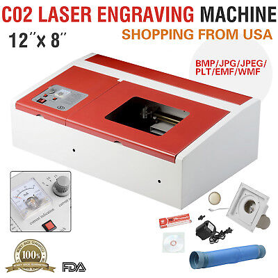 Co2 Laser Engraver Cutter Commercial Engraving Cutting Machine 40w Usb Red