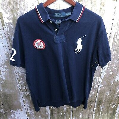 Polo Ralph Lauren jumpsuit romper USA patch Olympic world cup big pony flag 4-7
