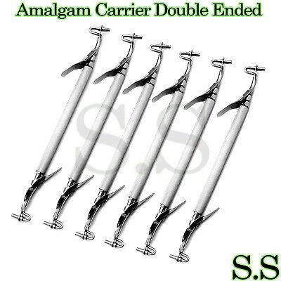 6 Pcs Amalgam Carrier Double Ended Mini 1.5mm Regular 2mm