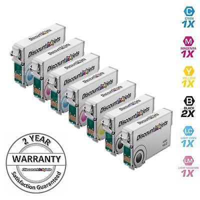 Photo Ink Set - 7Pk Ink Cartridge Set for Epson T078 Stylus Photo Printer R280 R380 T078920