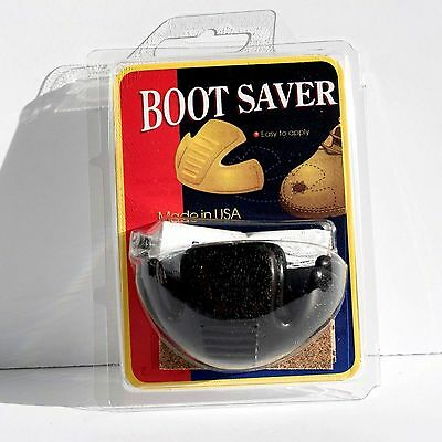 Boot Saver Toe Guards Boot Repair Work Boot Protector NEW BLACK one Pair
