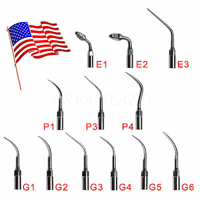 15pcs Dental Tips Ultrasonic Piezo Scaler Perio Endo Scaling Fit Ems Woodpecker