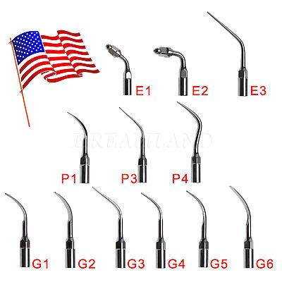 15pcs Dental Tips Ultrasonic Piezo Scaler Perio Endo Scaling Fit Ems Woodpecker