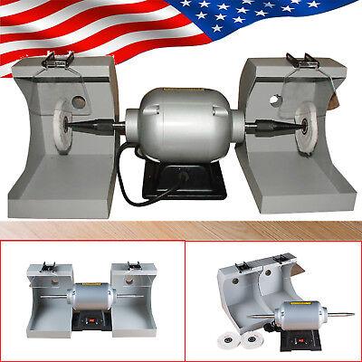 Us Dental Lab Polishing Cast Lathe Machine Lab Equipment Lzq-2 Double 2tops