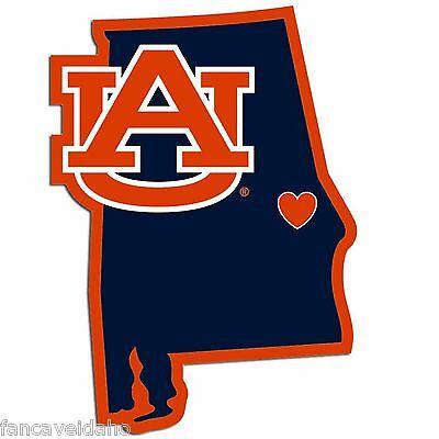 NCAA Auburn Tigers Home State Decal Auto Car Window Vinyl