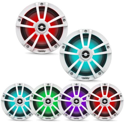 """Infinity 6.5"""" Coaxial Waterproof Marine RGB LED White Speakers (Pair)"""