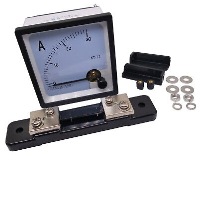 Us Stock Dc 0 30a Analog Amp Current Needle Panel Meter Ammeter Xt-72 Shunt
