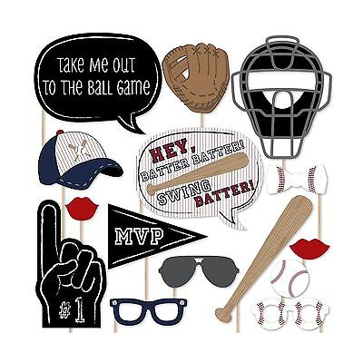 Batter Up - Baseball Photo Booth Props Kit - 20 Count Free Shipping - Baseball Photo Booth Props