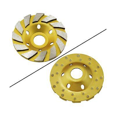 Ocr 4 Concrete Turbo Diamond Grinding Cup Wheel Three Row Turbo Cup Disc Gri...