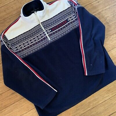 tommy hilfiger men's quarter zip pullover sweater size XL
