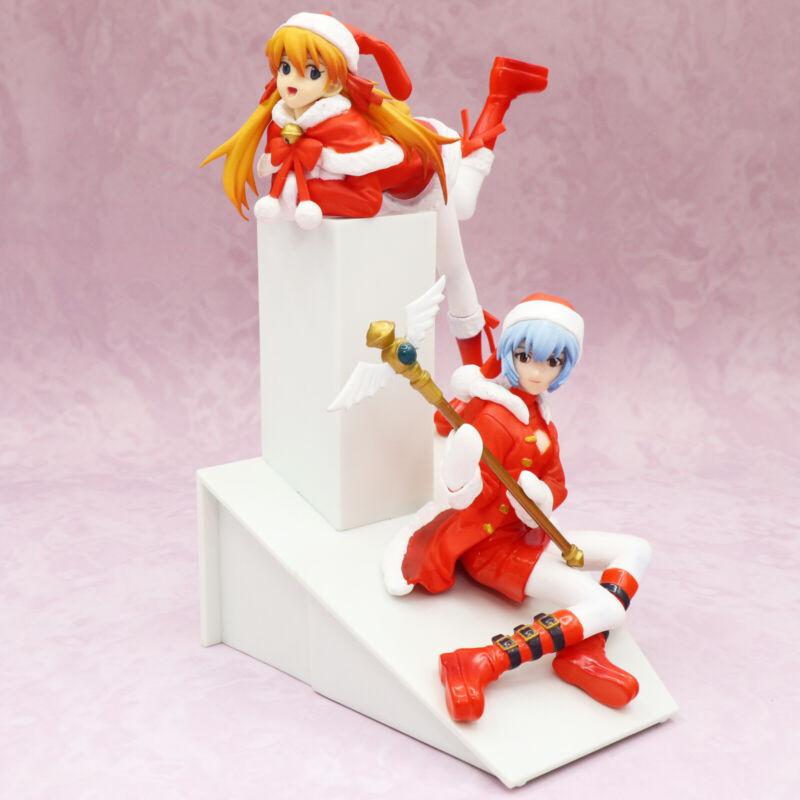 Neon Genesis Evangelion Rei Ayanami Asuka Langley Soryu Santa Costume Figure Set