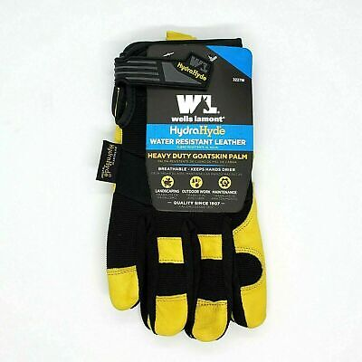 Wells Lamont Hydrahyde Water Resistant Breathable Leather Work Gloves Medium