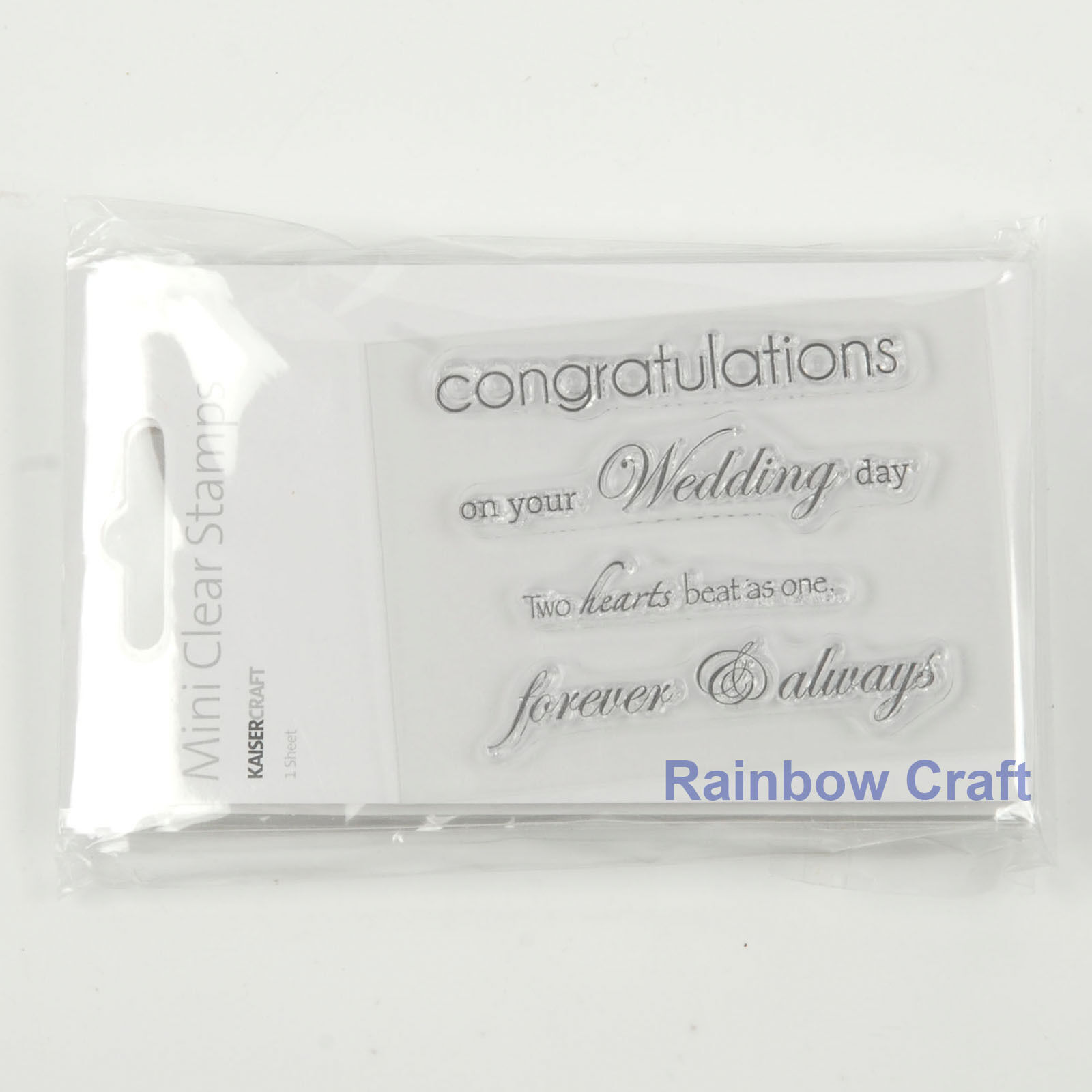 Kaisercraft mini stamps - 26 wording / patterns Scrapbooking card making - Congratulations