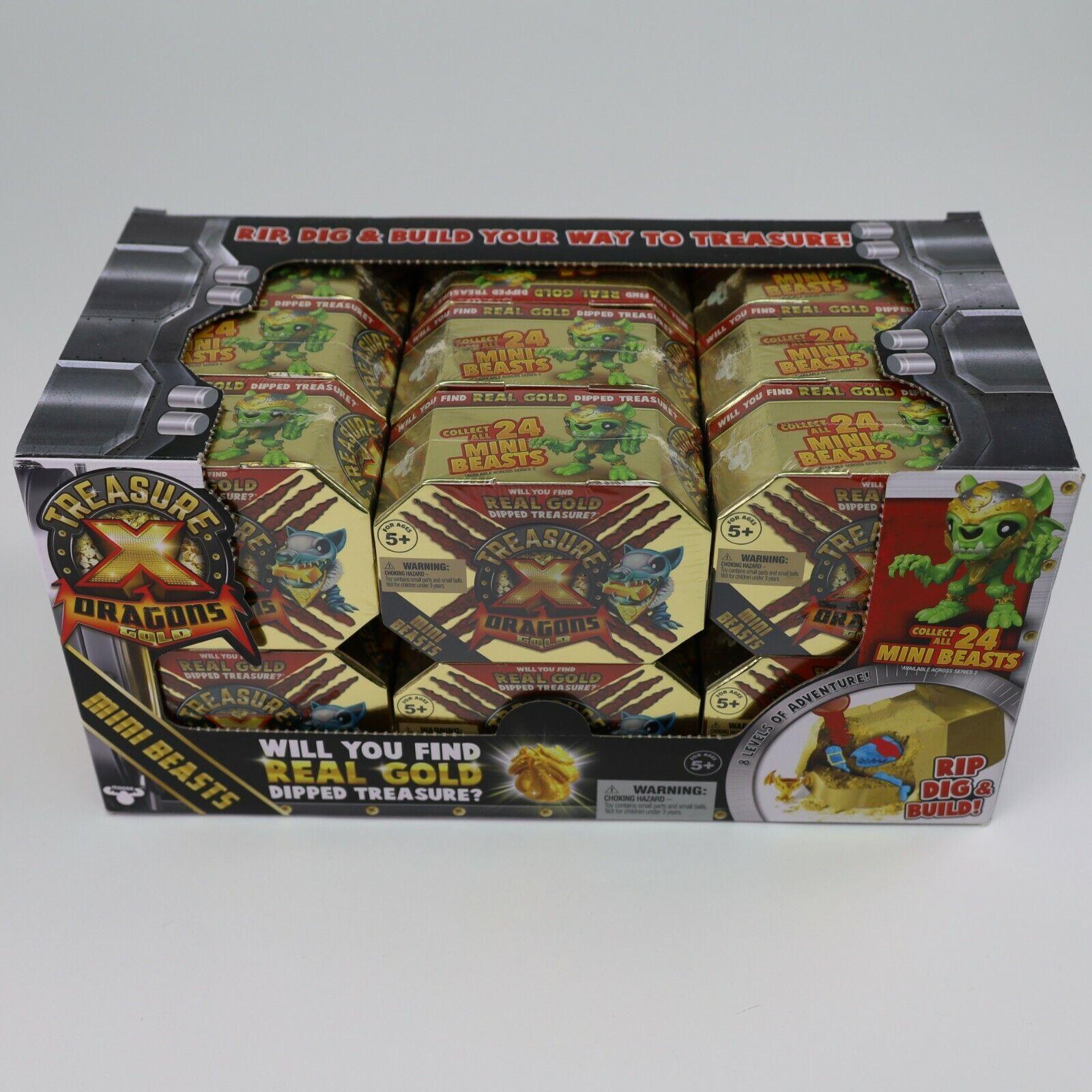 Treasure X Dragons Gold Mini Beasts Case Lot of 18 New Sealed Dragon Treasure For Sale - 2
