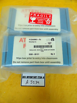 Amat Applied Materials 0200-02121 Encore Feedthrough Insulator Pair Lot Of 2 New