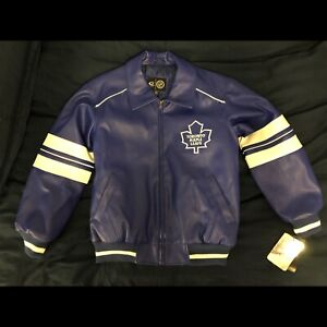 Youth M Toronto Maple Leafs Faux Leather Jacket